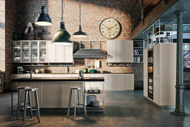 le 10 cucine piu belle in stile industriale frame di snaidero1